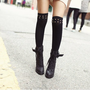 Studded Thigh High Socks