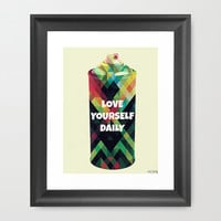 "LOVE YoURSELF DAiLY 8x10"" Digital Illustration High Gloss or Matte Print by MOPS"