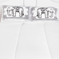 Urban Outfitters - Eastern Elephant Pillowcase - Set Of 2