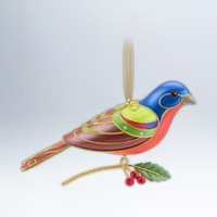 PAINTED BUNTING Hallmark 2012 8th in The Beauty of Birds Series #8 Hard to Find