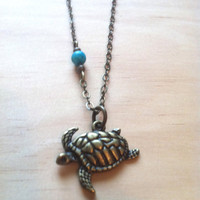 Swimming Sea Turtle Necklace