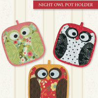 Pot Holders, Pattern, Night Owls, by Legacy Patterns
