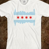 Chicago Flag Skyline t shirt - Chicago T shirt Co.