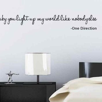 ONE DIRECTION WALL DECAL...