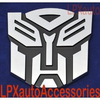 "Amazon.com: 5"" Autobot Transformers 3D Chrome Emblem (Not a Decal, High Quality Chrome Emblem): Automotive"