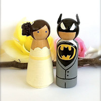 Custom Superhero Batman Wedding Cake by CreativeButterflyXOX