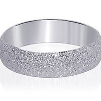 Sterling Silver Stardust Finish 5mm Wide Band Polished Finish Ring Size 5, 6, 7, 8, 9, 10