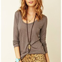 Blue Life Material Girl Top