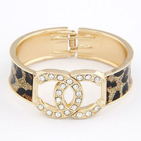 Chanel Cheetah Print Cuff Bangle