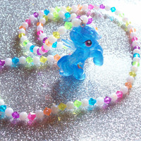 Glitter Rainbow Dash Necklace - Crystal Empire Series