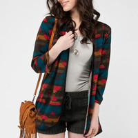 Cherokee Cardigan in Brown Multi :: tobi