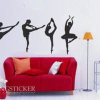 ballet dance Vinyl Home Wall Art Decal Sticker by yitingsticker