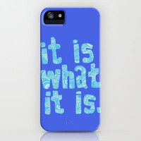 What it is Blue iPhone Case by lush tart | Society6