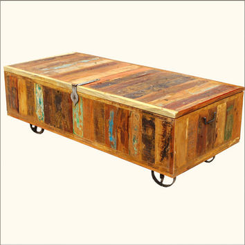Wood Wrought Iron Storage Box Coffee From Sierralivingconcepts On