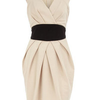 Stone obi style ponte dress - Dresses  - Clothing  - Dorothy Perkins