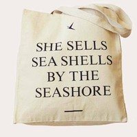 &#x27;She Sells...&#x27; Long Handled Shopper