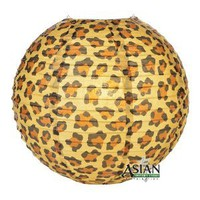 "14"" Cheetah Print Paper Lantern - (6 Pack) - Amazon.com"