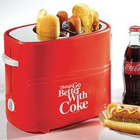 Amazon.com: Coca-Cola Hot Dog Toaster: Things Go Better with Coke Kitchen Cooking Device: Kitchen & Dining