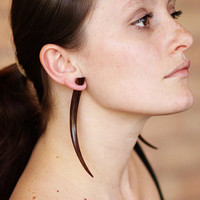 Fake Gauges - XL Brown Wood Talons