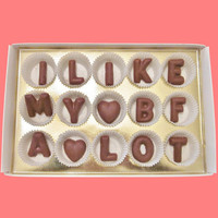 I Like My BF A Lot Large Milk Chocolate Letters