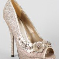 Delicious Mirani-S Glitter Flower Stiletto Pump