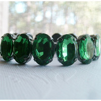 Emerald Green Bracelet  Christmas Bracelet by Aqsa on Etsy