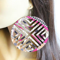 Tribal Wood Earrings
