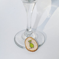 Wine charm wood owls by starlightwoods on Etsy