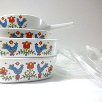 Corning Ware Casserole Dishes &amp; Saucepan  Country by ItchforKitsch