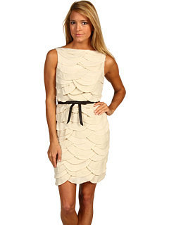 Robert Rodriguez Scallop Dress (Bone) - Dresses