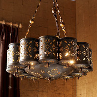 Pierced Metal Chandelier - Horchow