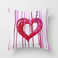 WATERCOLOUR GLITTER * Bleeding Heart * iby Mnika Strigel |  PILLOW *** and Society6 for iPhone 5 + 4 S + 4 + 3 GS + 3 G + skin +