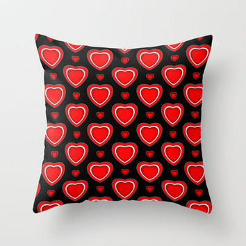 Valentine in Black Throw Pillow by Alice Gosling | Society6