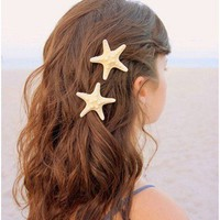 Fashion Lovely Natural Starfish Hairpin  from LOOBACK