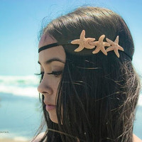SALE  Starfish Headband  Triple Sugar Starfish by dreamsbythesea