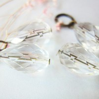 Add On Charm Clear Transparent Water Drop Teardrop Dangle