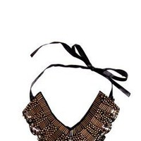 Arianna Bugle Bead Chain Work Collar at boohoo.com