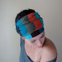 Colorblock Head Scarf - All In One Headband, Turban, Hair Wrap, Scarf