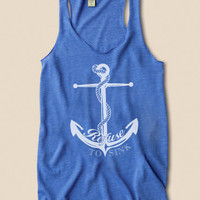 Refuse To Sink Nautical Anchor - Eco Friendly Racerback Tank Top
