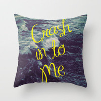 Crash Throw Pillow by Caleb Troy | Society6