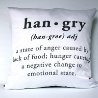 $52.08 decorative pillow hunger plus anger equals by mybeardedpigeon