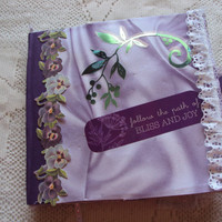 Scrapbook Album, Dream  Album, Paperbag Mini Album, Purple Scrapbook Photo Album