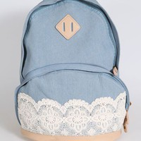 new authentic lace lace handbag backpack schoolbag -EMS from ClothLess