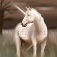 Archival print Digital artwork Unicorn horse by theartofstacy