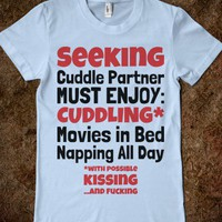 Seeking Cuddle Partner (Juniors) - Text First
