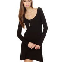 Hurley Painted Desert Dress - Little Black Dress - Long Sleeve Dress - &amp;#36;42.00