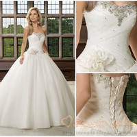 New white/ivory Wedding dress Bridal gown Custom Size 4/6/8/10/12/14/16/18/20/22