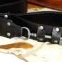 Size 32 Waist Black Leather Steampunk Belt with by urbanheirlooms