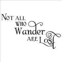 Amazon.com: Not All Who Wander Are Lost wall saying vinyl lettering home decor decal sticker quotes appliques art harry potter dumbledore: Home & Kitchen