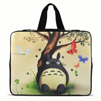 "Totoro 9.7"" 10"" 10.1"" 10.2"" inch Laptop Netbook Tablet Case Sleeve Carrying bag with Hide Handle For iPad 2 3/Asus EeePC 10 transformer/Acer Aspire one/Dell inspiron mini/Samsung N145/Toshiba/Kindle DX/Lenovo S205/HP Touchpad Mini 210"